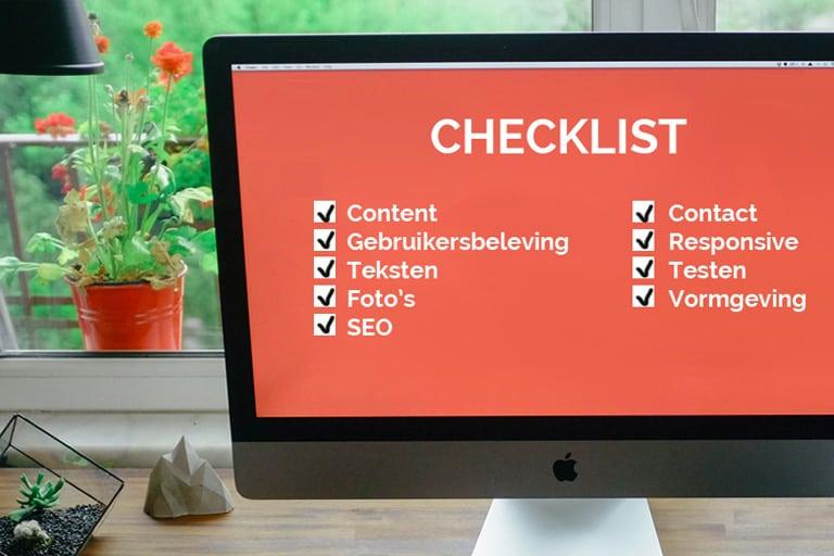 checklist goede website