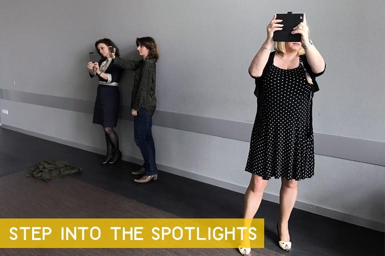 step into the spotlights