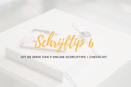 online schrijftips nr 6