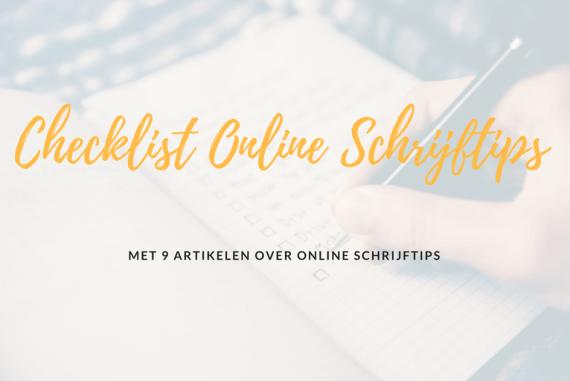online schrijftips checklist