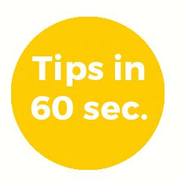 tips in 60 sec