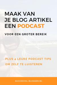 Podcasts luisteren: waar en wat?   Succesvol-Bloggen.nl   podcast   blog   omdenken   tip   bereik