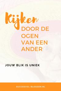 Anders kijken zorgt voor interactie met je klant. | Succesvol-Bloggen.nl | kijken | anderskijken | omdenken | blog | uniek
