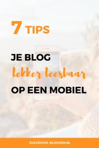 Je blog op een mobiel, 7 leesbaarheid tips. | Succesvol-Bloggen.nl | responsive | mobiel | blog | leesbaarheid | tips