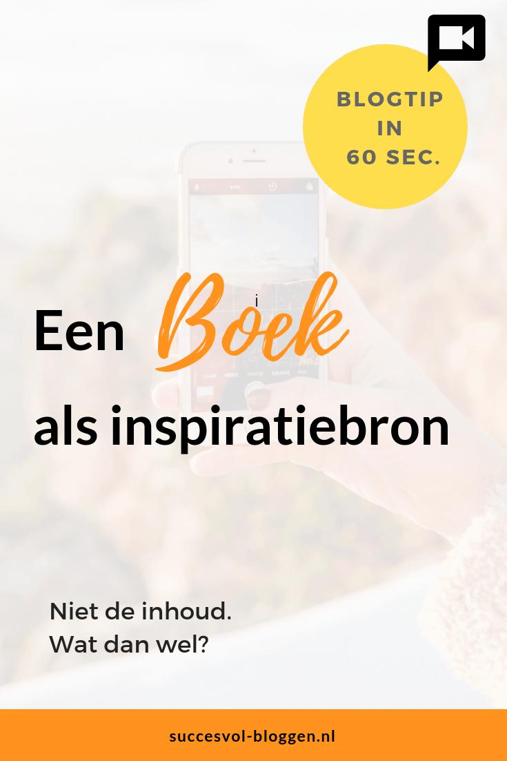 Boeken als inspiratiebron. Een Online ZichtbaarheidsTip ivan 60 sec. | Succesvol-Bloggen.nl | Boek | Inspiratie | #content #inspiratie