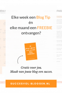 Gratis Blog Tips en Freebies ontvangen - update oude artikelen