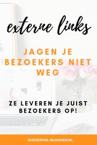 Externe links jagen je bezoekers niet weg. Succesvol-Bloggen.nl | blog  | blpggen | blogtip | links | blogexpert | blogcoach