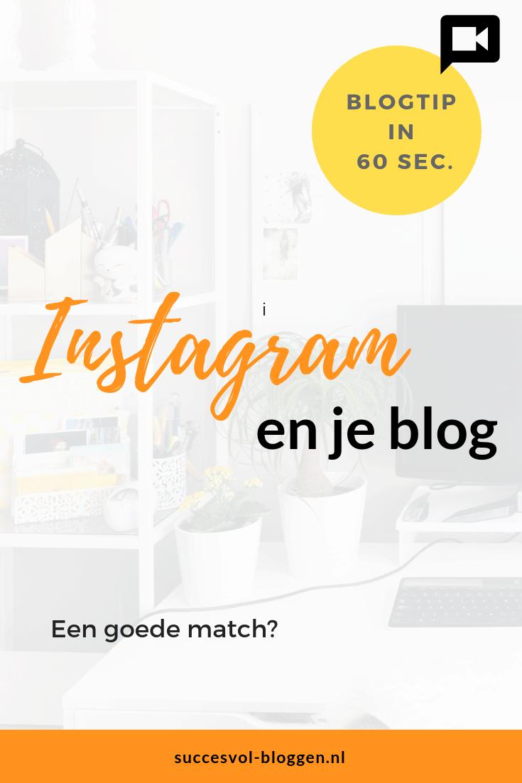 Instagram en je blog, een goede match? Een Online Zichtbaarheid tip van 60 sec. | Succesvol-Bloggen.nl | Instagram | Bloggen | #instagram #blogtip