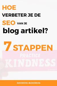Hoe optimaliseer je je blogartikel opnieuw voor SEO? In deze 7 stappen! Succesvol-Bloggen.nl #seo #wordpress #blogtip