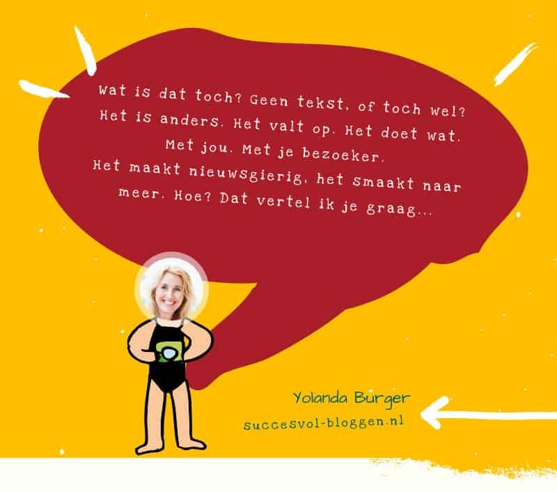 bloggen met en zonder tekst | succesvol-bloggen.nl | blog |bloggen | blogcoach