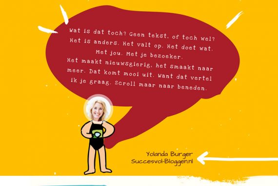 Infographic Bloggen Met en Zonder Tekst - Succesvol-Bloggen.nl