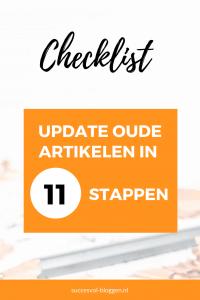 Checklist update oude artikelen - Succesvol-Bloggen.nl | checklist | blog | bloggen | blogcoach