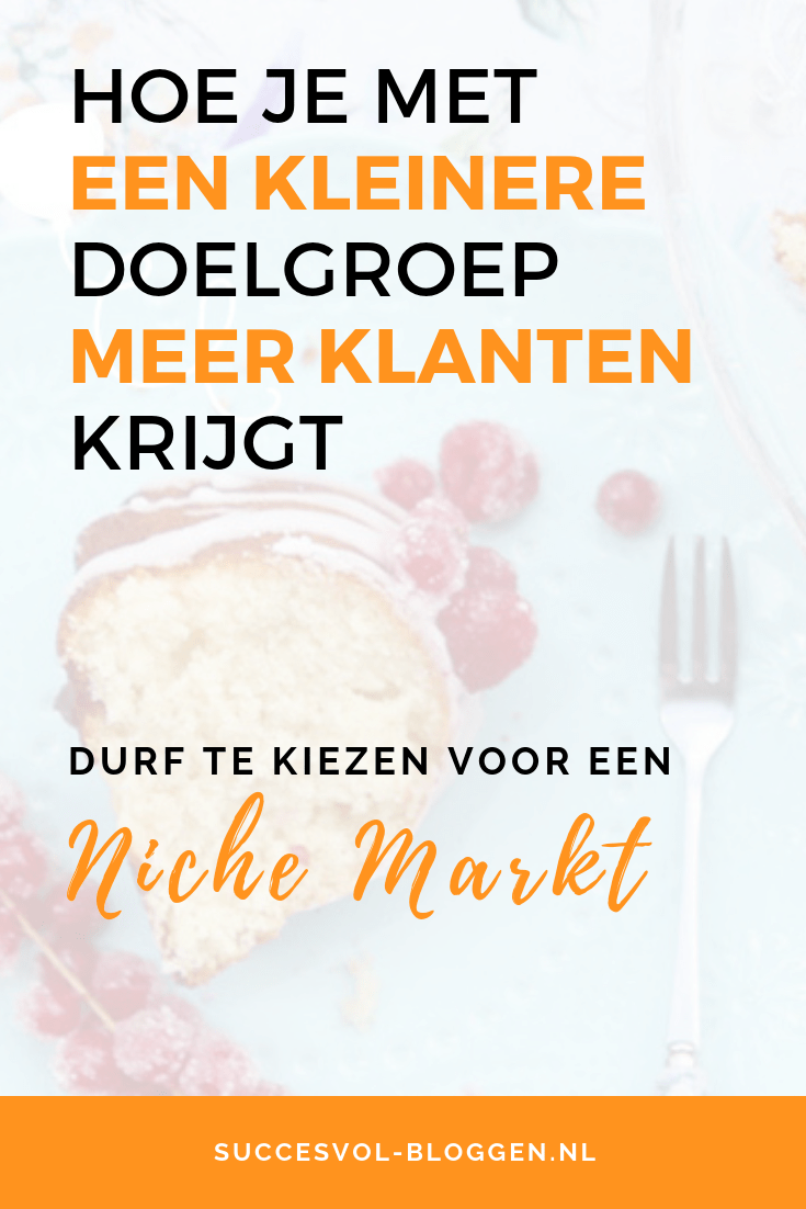 Een niche markt kiezen levert je meer klanten op. | succesvol-bloggen.nl | contentstrategie | ondernemen | onlinemarketing