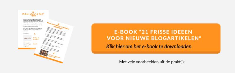 e-book 21 frisse ideeen voor het maken van nieuwe bogartikelen | succesvol-bloggen.nl | content | blog
