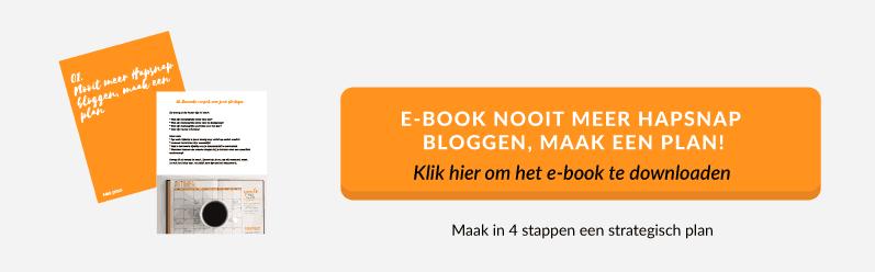 e-book Nooit meer HapSnap Bloggen |Succesvol-Bloggen.nl | contentstrategie | contentplanning