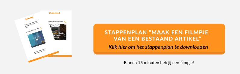 Stappenplan Maak een filmpje van een bestaand artikel | succesvol-bloggen.nl | content | video