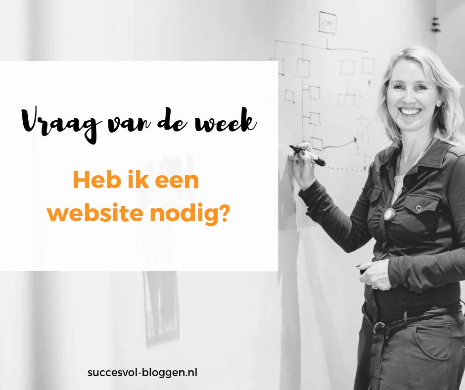 Heb ik een website nodig? succesvol-bloggen.nl | onlinecommunicatie \ content