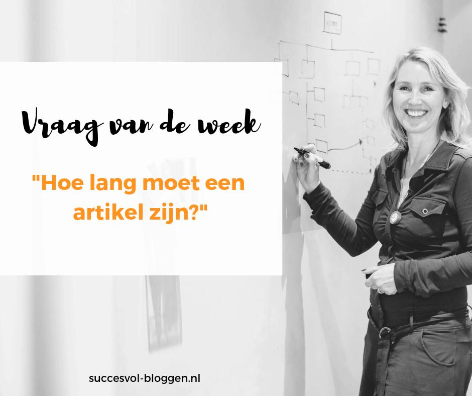 Vraag van de week | Succesvol-Bloggen.nl | content | onlinecommunicatie