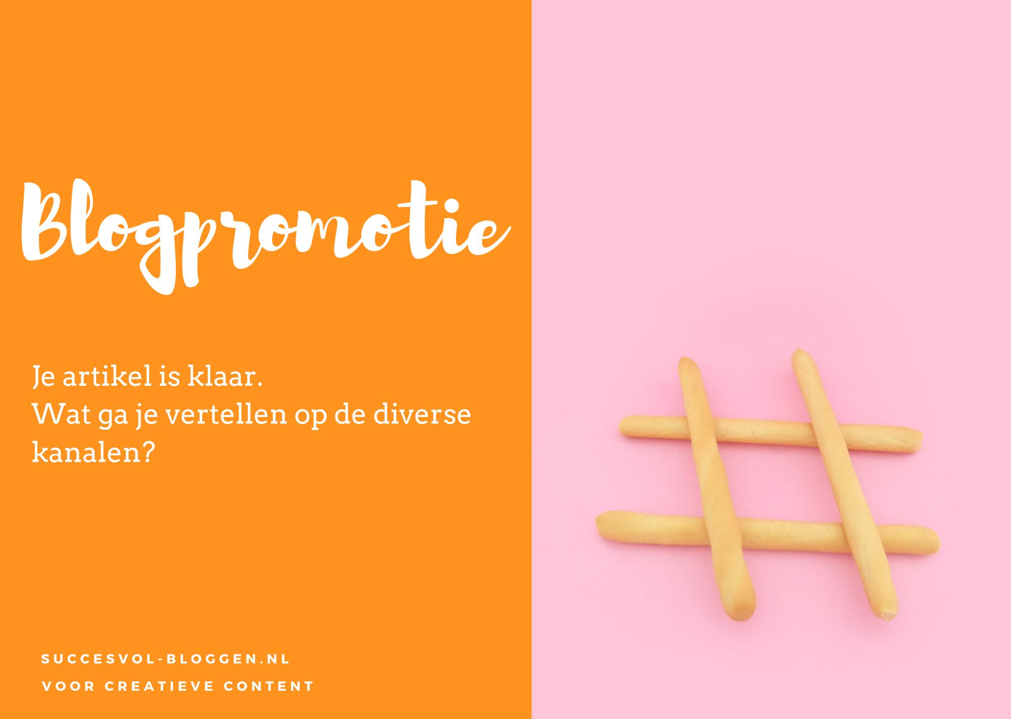 werkplan blogpromotie | succesvol-bloggen.nl