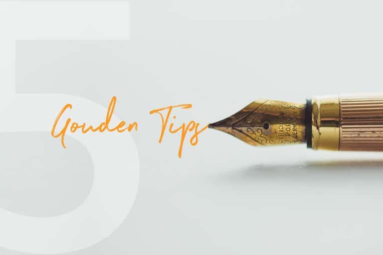 Gespot! 5 Gouden tips | succesvol-bloggen.nl
