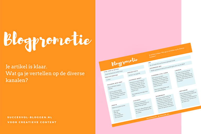 promotie voor je blogartikel | succesvol-bloggen.nl